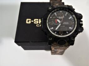 Relógio Militar Marron Analógico Digital G-shock Em Promoção