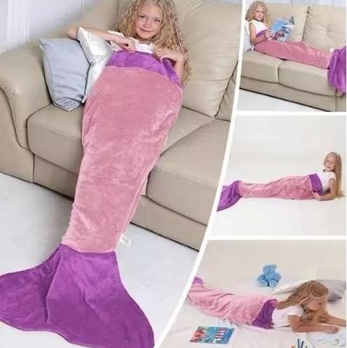 Manta Cobertor Infantil Saco De Dormir Buettner Sereia Rosa