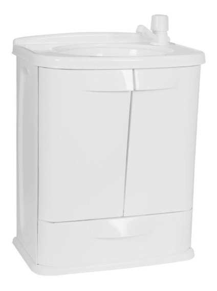 Gabinete P/ Banheiro Astra Gab Fit Pvc 2 Portas + Gav Branco