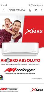 Aire Clima Minisplit 220v Y 110v 12000 Btu 1 Ton Mirage Xmax
