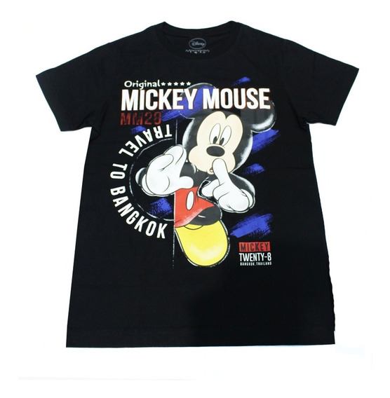 Remera Disney Mujer Mickey Mouse Travel To Bangkok 0053