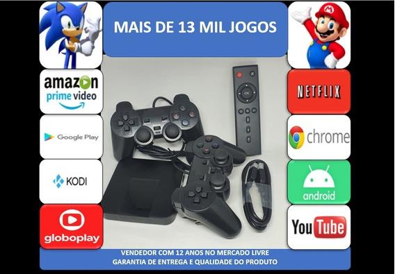 Retro Game 13mil Jogos 64gb Tv Box 2 Controles Usb
