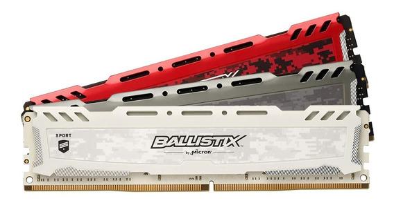Memoria Ballistix Sport 1 X 16gb Ddr4 2400mhz Crucial 12x