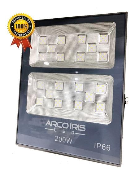 Refletor Super Led 200w Bivolt Branco Frio Multifocal Slim