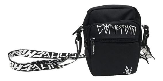 Mini Bolsa Lateral Chronic Shoulder Bag Comptom Preta.