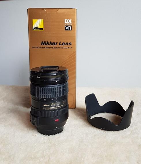 Lente Nikon Af-s Nikkor 18-200mm (nunca Usada)