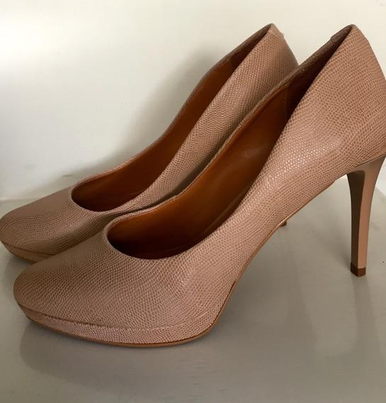 Zapatos Stilettos Via Uno Sintetico Reptil Nuevos! V. Devoto