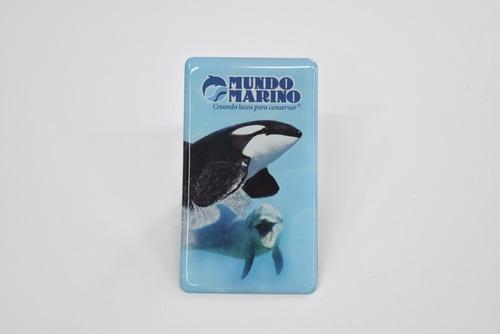Imagen 1 de 1 de Imán Orca Y Delfín Domes Mundo Marino