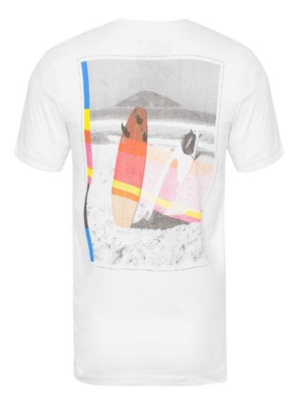 Redley T-shirt Masculina Surfboard - Off White
