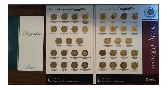 Colección De Monedas De 5 Pesos Conmemorativas En Album