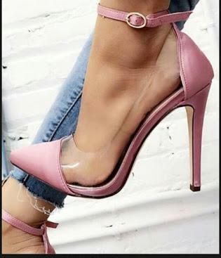 Sapatos Femininos Scarpins Transparência