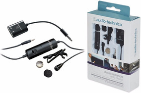 Microfone Lapela Atr3350is Audio-technica Smartphone Camera