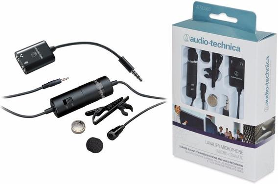 Microfone Lapela Atr3350is Audio-technica Smartphone Camera