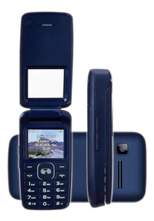 Celular Dl Yc-335azu Flip 32mb Dual Sim Rádio Fm Azul