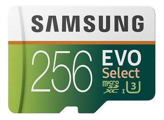 Samsung Microsd Card 256gb Evo Select U3 4k 100mb/s Promoção