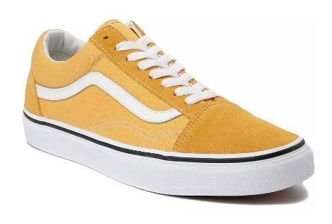 Tenis Vans Mod. 497201 Old Skool Chex Skate Yellow Unisex/ J