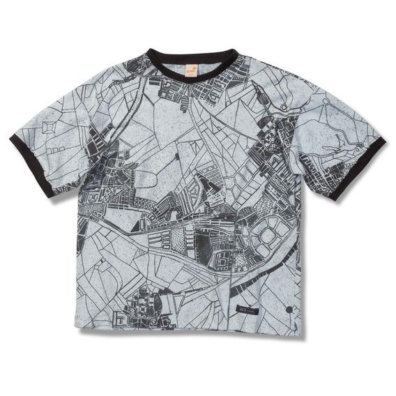 Camiseta Mapa Chumbo Green - Infantil Menino