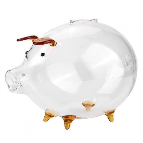 Imagen 1 de 9 de Tarro De Dinero, Banco De Cerditos De Cristal, Transparente