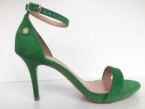 Sandália Feminina Verde Bandeira Di Cristalli Verão 2548878