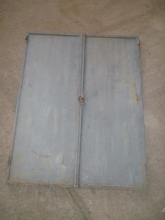 Puerta Chapa Dos Hojas Casilla
