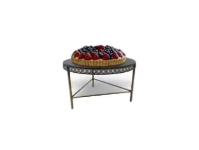 Imagen 1 de 5 de Base Decorativa Metal Dorado Këssa Muebles