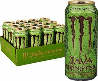 Java Monster Irish Blend, Café + Bebida Energética, 15 Onzas