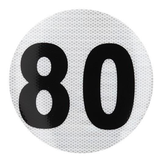 Calco Velocidad Maxima 80 Reflectivo Taiwan 3209/2