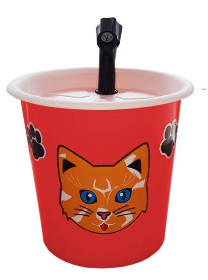 Bebedouro Fonte Para Gatos 2,5l Vermelho
