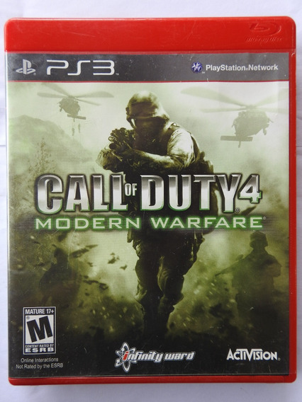 Call Of Duty Modern Warfare 4 - Ps3 Midia Fisico Original
