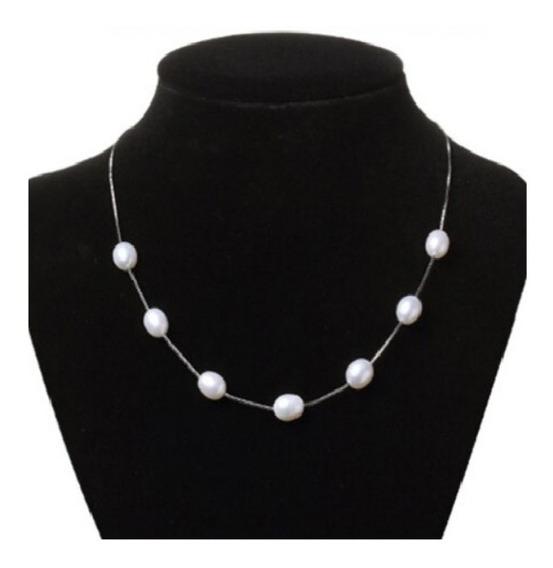 Collar Perlas Auténticas Aaa Y Plata S925 Regalo Envío