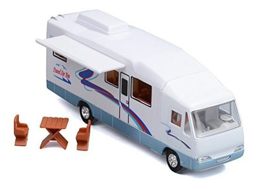Haptime 76 Cool Mini Motorhome Toy Diecast Tireback Vehiculo