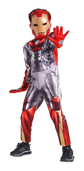 Disfraz Iron Man Con Luz Importado Orig Disney Store Eeuu