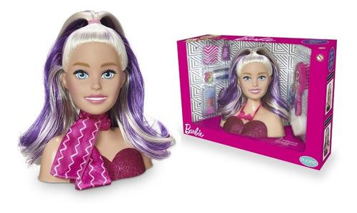 Boneca Barbie Busto Styling Hair Make Pentear + Acessórios