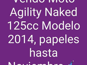 Moto Agility Naked 2014 125cc