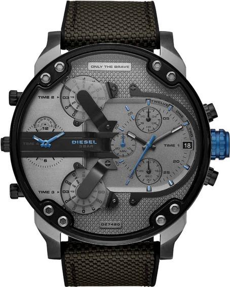Relógio Diesel Masculino Mr. Daddy Cronógrafo Dz7420 Na Caix