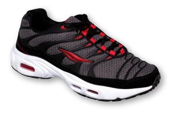Tenis Deportivo Para Joven Marca Boost Textil Negro Rojo 61