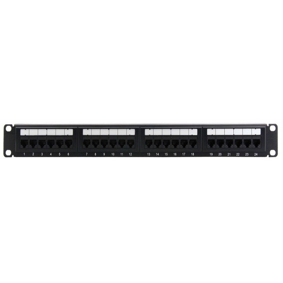 Patchera Patch Panel 24 Bocas Cat 5 Rj45 Amp Usada Excelente