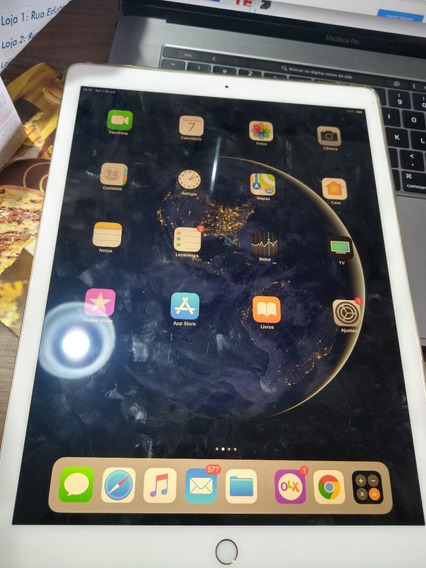 iPad Dourado 12.9 A1652 128gb Original Apple