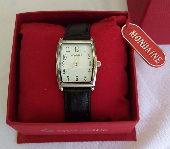Relógio Mondaine Original Com Pulseira De Couro