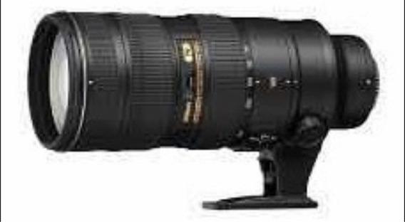 Teleobjetiva Nikon 70-200 Com Bolsa E Filtro Uv