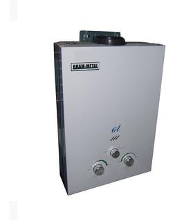 Calefon A Gas Bram Metal 6 Litros Gas Natural O Gas Envasado