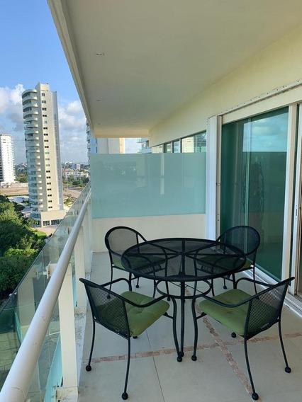 Departamento En Renta, 2 Recámaras Amueblado, Cancún Towers, Av. Bonampak, Puerto Cancún