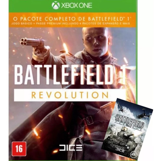 Battlefield 1 Revolution Xbox One Código 25 Dígitos+ Bf 1943