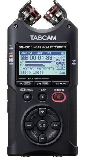 Imagem 1 de 9 de Gravador Voz Tascam Dr-40x  Audio Digital Portátil