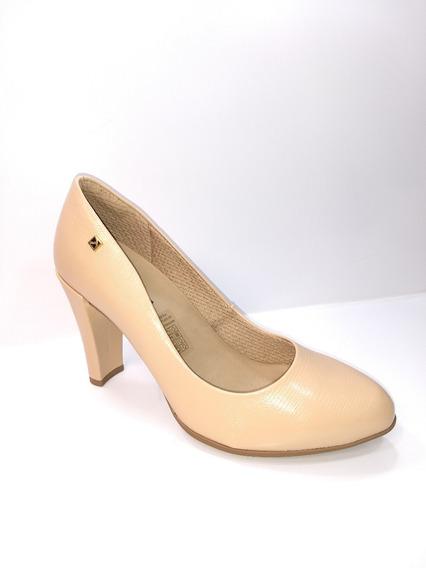 Sapato Salto Alto Bege Slt Forrado Anatomic Ref: 695001