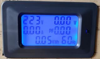 Wattímetro Voltímetro Amperimetro Multifuncional 6 Em 1 100a