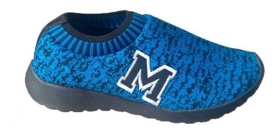 Tenis Marathon Anfibio Confort Azul/pto Promoção Até 15.07