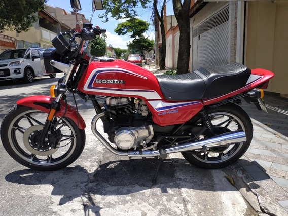 Honda Cb 400 Tucunaré 1984 Com Placa Preta