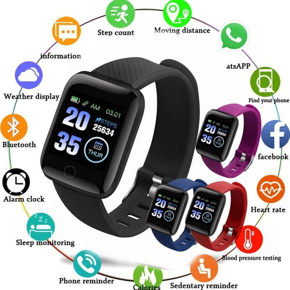 Smartwatch D13 Reloj Inteligente Moderno Apps Notificaciones