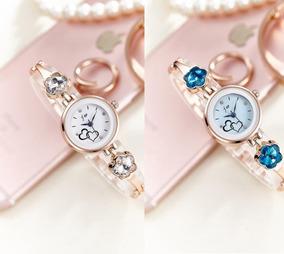 Relógio Feminino De Luxo Promoção Com Pedrinha